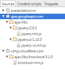 Externe JavaScript Bibliotheken