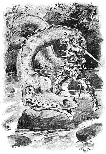 Drachentöter - Illustration von Charles Edmund Brock